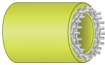 Illustration of DBP compliant layflat hose construction