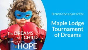 Proud to be a part of the Tournament of Dreams Tournament